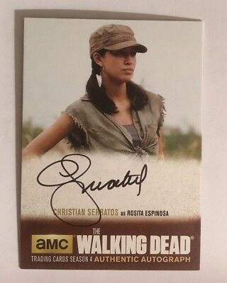 Christian Serratos Authentic Autograph The Walking Dead Season 4 Part 2
