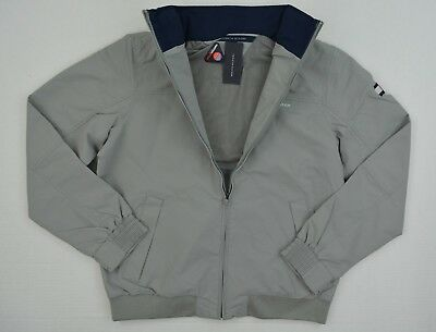 NWT Men's Tommy Hilfiger Yacht Jacket Outerwear Hoodie WaterStop Gray S XL