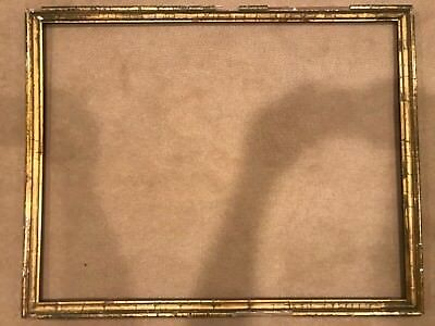 Antique 28x22 19th Century Large Lemon Gold Gilt Picture Frame A