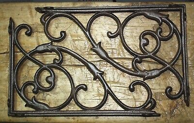 4 Cast Iron Antique Style HUGE VINE Brackets Garden Braces Shelf Bracket HD