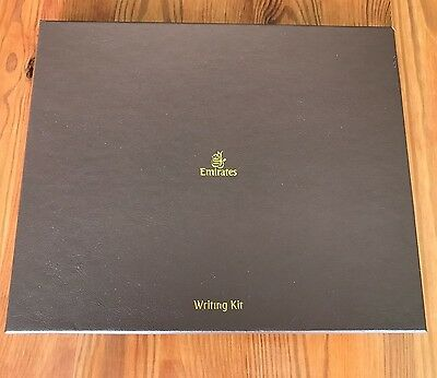Emirates, First Class, Schreibset, Luxus-Schreibset, Briefpapier, Writing Kit