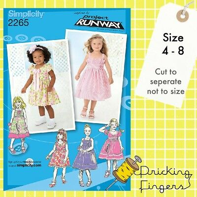 Simplicity 2265 Sewing Pattern Project Runway Childs Dress In 2