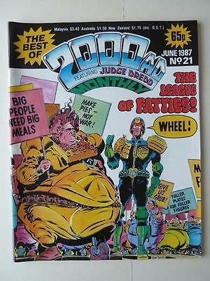 The Best Of 2000AD Featuring Judge Dredd Monthly No 21 1987 VGC