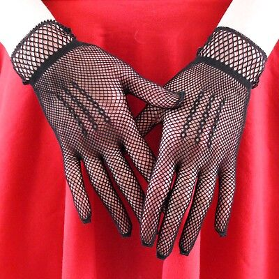 2 X PAIRS FASHION SUMMER PARTY FISHNET GLOVES  black & white