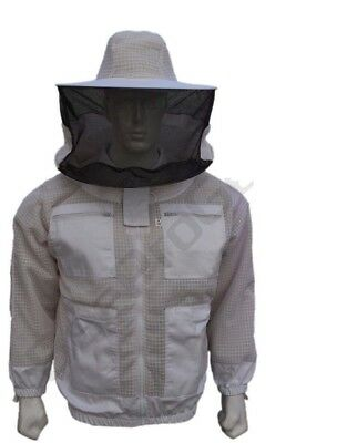 Bee Beekeeper 3 Layer Ultra Ventilated beekeeping jacket Round veil@Small-01