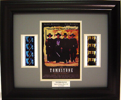 Tombstone Framed Movie Film Cell Kurt Russell