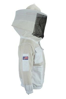 Bee Beekeeper 3 Layer Ultra Ventilated beekeeping jacket Round veil@2XL-01