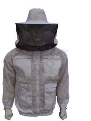 Bee Beekeeper 3 Layer Ultra Ventilated beekeeping jacket Round veil@3XL-01