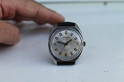 Vintage Old German Made Glashutte Automatic Men's Wrist Watch 26Rubis