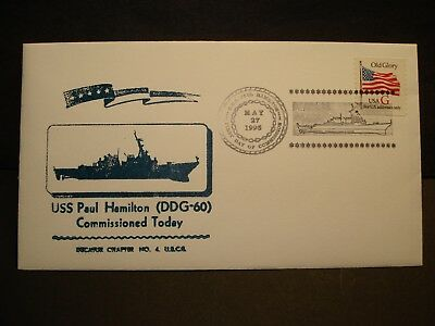 USS PAUL HAMILTON DDG-60 Naval Cover 1995 COMMISSIONED Cachet