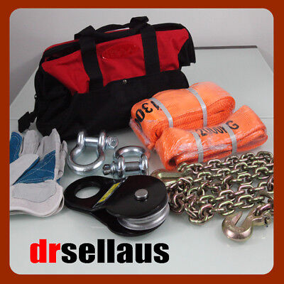 Recovery Kit 4X4 Off Road 8 Piece 4Wd Winch