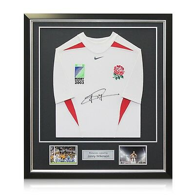 Jonny Wilkinson Signed World Cup 2003 Player Issue Shirt Memorabilia Framed