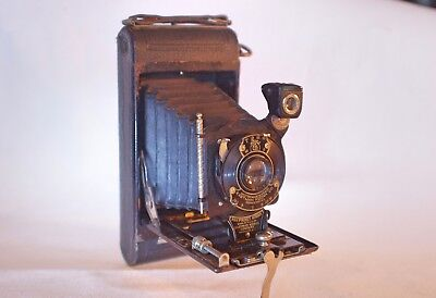 No. 1 Folding Pocket KODAK BROWNIE Film Camera in Original Canvas Case