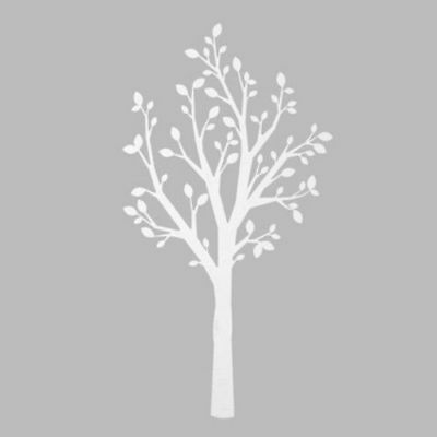 "Wall Decal White Tree (86"") by  Cloud Island  -  NEW"