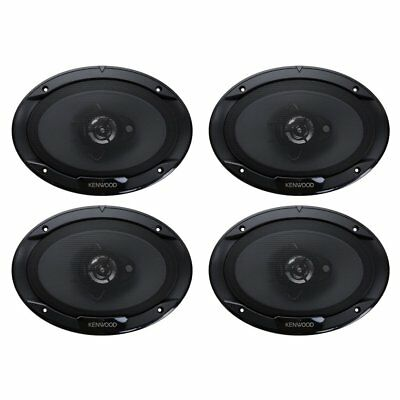 """Kenwood 6 x 9"""" 400W 3-Way Car Audio Flush Mount Coaxial Stereo Speakers (2 Pack)"""