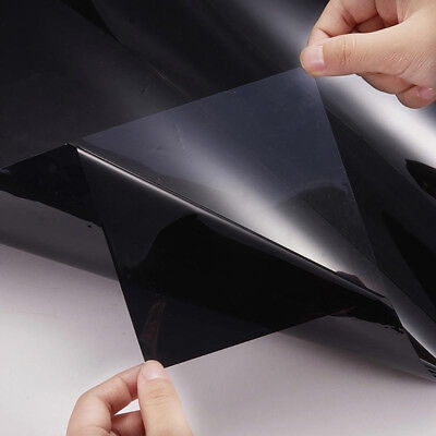 Professional Dark Smoke Black Car Window TINT 5% VLT Film Size 300x50cm Uncut