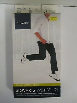 Sigvaris Well Being Casual Cotton Socks Size A Black - Rc 6285
