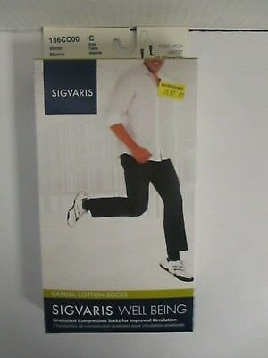 Sigvaris Well Being Casual Cotton Socks Size C White - Rc 6290