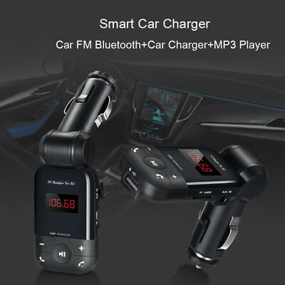 Bluetooth Wireless Car Radio FM Transmitter Adapter Audio Receiver USB Charger