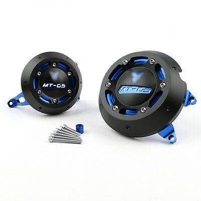 Engine Case Cover Protective Left & Right For Yamaha MT-09 FZ-09 2013-14 Blue UK