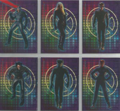 "X-Men The Movie - ""Clear Cling Cards"" 12 Card Chase / Insert Set #CL1-12"