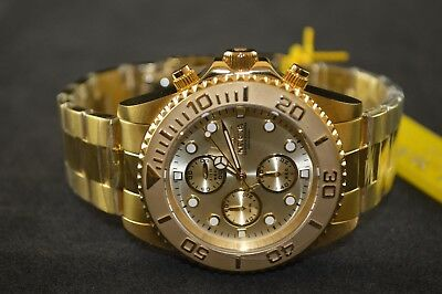 Invicta Pro Diver Chronograph Gold Stainless Steel Men's Watch 1774