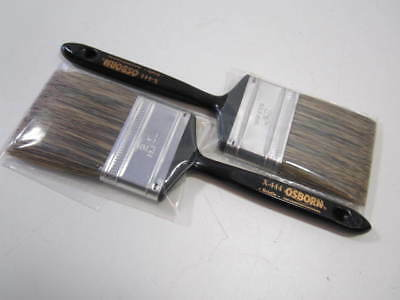 "Lot of 2 Osborn 71103 Grey Bristle 1/2"" Thick 2-1/2"" Paint Brushes NEW"