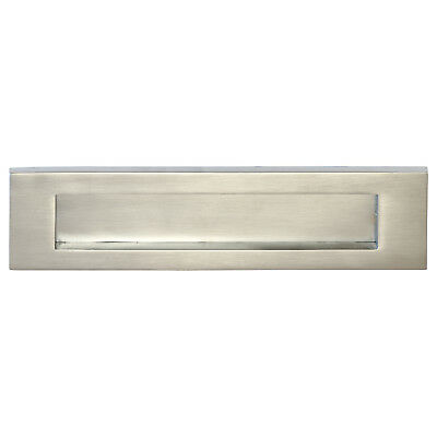 "Letter Box Plate - SATIN CHROME | Bolt Centres 223mm - VICTORIAN | (10"" x 3"")"