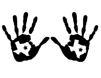 5.5-4.2 1 Left and 1 Right Handed 2-Pack Wave Texas Star Decal Sticker