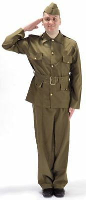 MENS BRITISH HOME GUARD COSTUME WWII Soldier Military Dads Army Fancy Dress