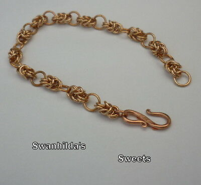 Larp Viking Handcrafted Ooak Bronze Adjustable Wrist Chain Swsw