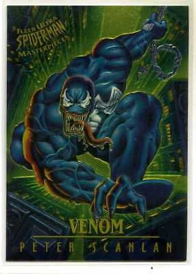Spider-Man Fleer-Ultra Chrome Masterpiece Card - #9 - Venom - Peter Scanlan