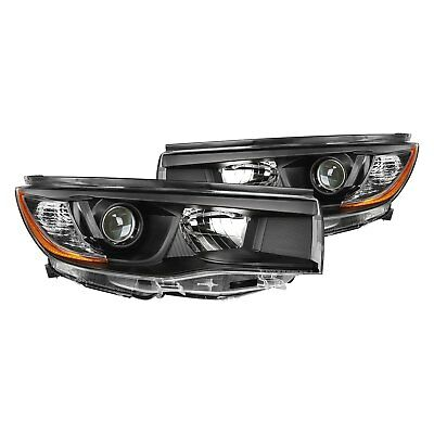 For Toyota Highlander 14-16 Lumen Black Factory Style Projector Headlights