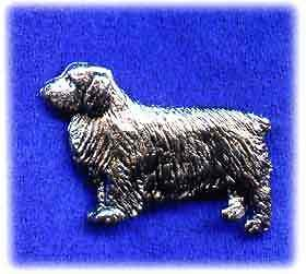 Clumber Spaniel Nickel Silver Brooch Pin Jewelry