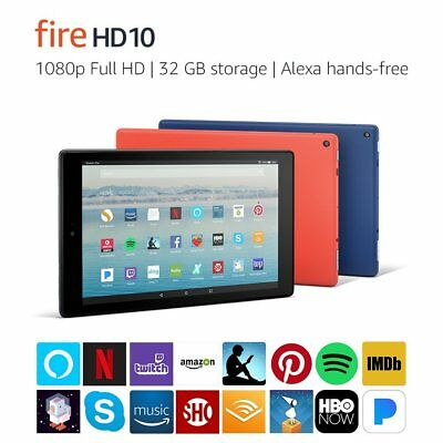 Amazon Fire HD 10 - Hands free Alexa - 32GB 2017 Punch Red Brand NEW