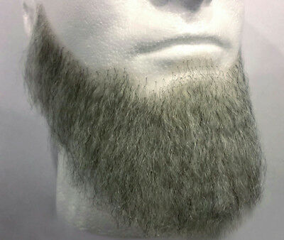 Light Grey Human Hair Full Character Professional Costume Beard 2024