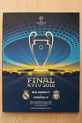 2018 Uefa Champions League Final Programme *Real Madrid V Liverpool*(26/05/2018)