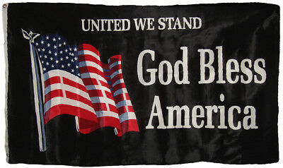 3x5 United We Stand God Bless America Flag House Banner Grommets Super Polyester