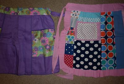 PAIR VINTAGE 1960s GROOVY  APRONS UNUSED EXC- CONDITION