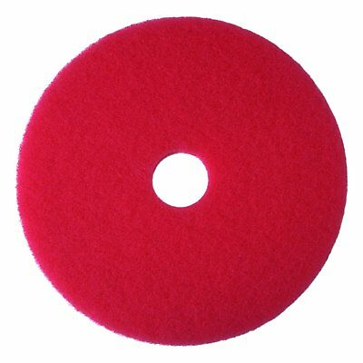 "3M 08388 Red Buffer Pad 5100, 13"" Floor Buffer, Machine Use (Pack of 5)"