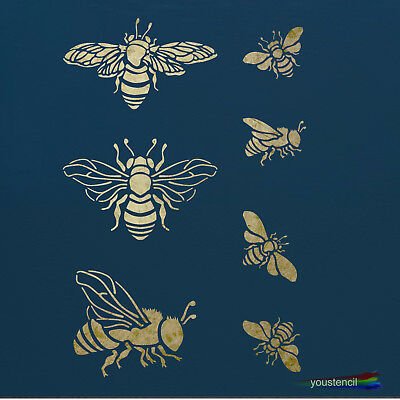 Bumble Bees, Stencil for Walls, Furniture and Art,  ST48