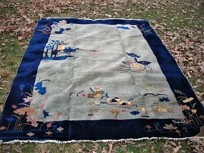 Spring Sale Antique 1920 S Chinese Art Deco Rug 6x9 795 00