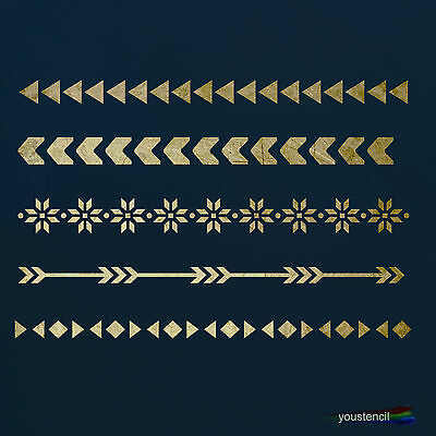 Decorative Borders #4 Stencil Template:  Scrapbooking, Airbrushing, Art:  ST54A6