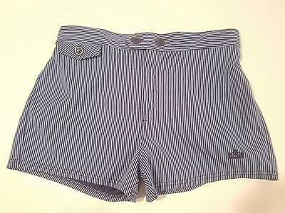 VTG men's retro swim trunks shorts kings road SEARS  size M L blue stripe 60s
