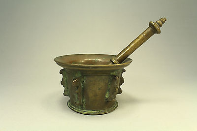 = 1500's/1600's French Bronze Pharmaceutical Mortar & Pestle Apothecary, Alchemy