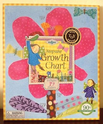 """eeBoo Keepsake Growth Chart """"Hot Pink Flower"""" From Barnes And Noble"""
