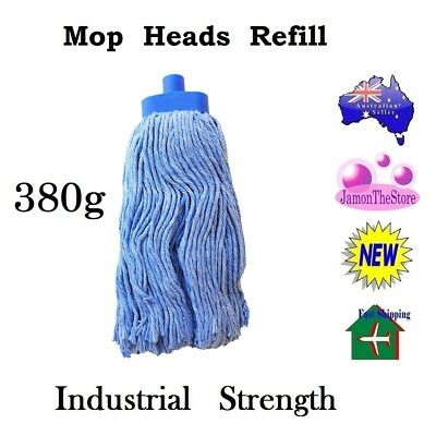 Mop Head 400g Refill Durable Industrial Strength Heavy Duty Colour Code Specials