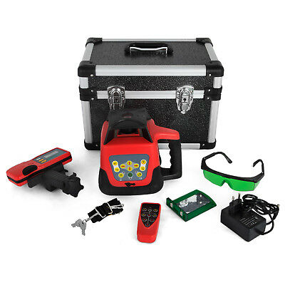 Self-Leveling Rotary Laser Level Kit Rotatationslaser Red/Green Beam Automatic