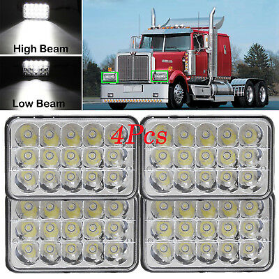 "For Freightliner FLD120 FLD112 1998-2007 4""x6"" LED Headlight Hi-Lo Sealed Beam"