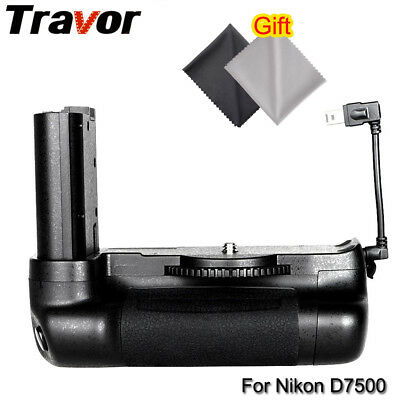 Vertical Battery Grip Pack for Nikon D7500 DSLR Camera + Gift (2 x Clean Cloth)